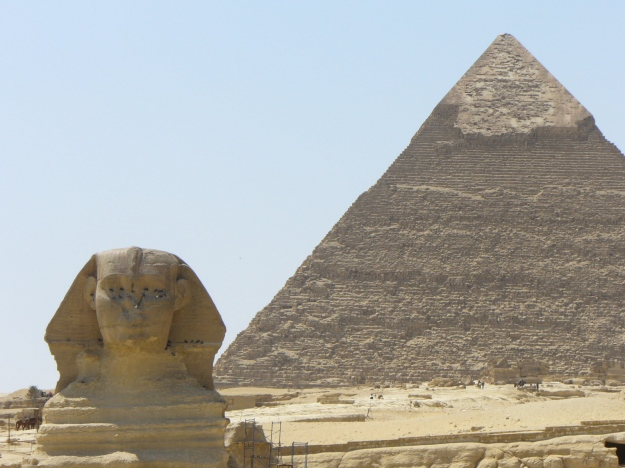 Sphinx and pyramid. (Photo by author.)