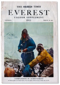 The Times, Mount Everest Expedition report, May 1953.  (Photo credit:  The Times)