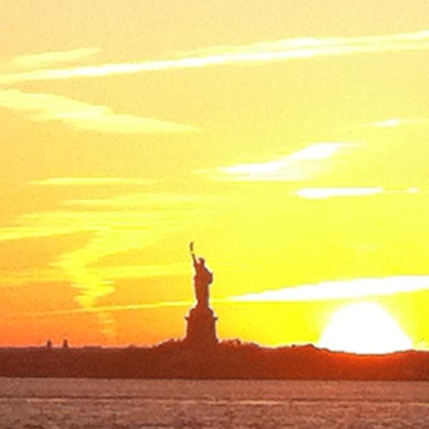Lady Liberty from the Red Hook pier in Brooklyn.  (Photo credit: D. Powell)