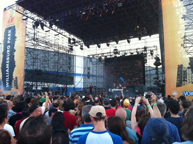 New Order takes the stage, July 24, 2013.