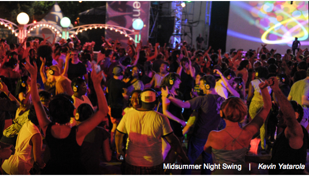 Midsummer Night Swing's Silent Disco.