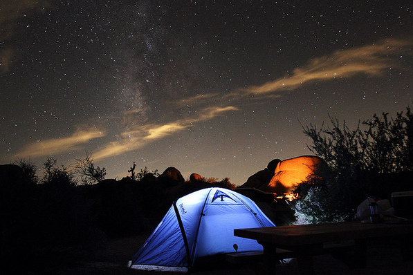 Jumbo Rocks campground at Joshua Tree. (Photo credit: Nate2b)