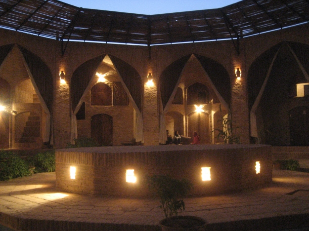 Oh what a night! The caravanserai courtyard.  (Photo credit:  Suzanne Anthony)
