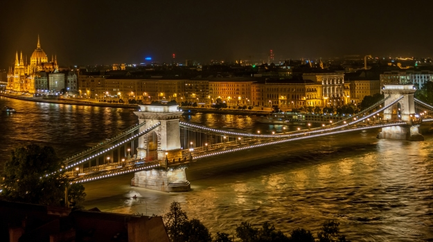 Take me to the river. Széchenyi Chain Bridge, Budapest.