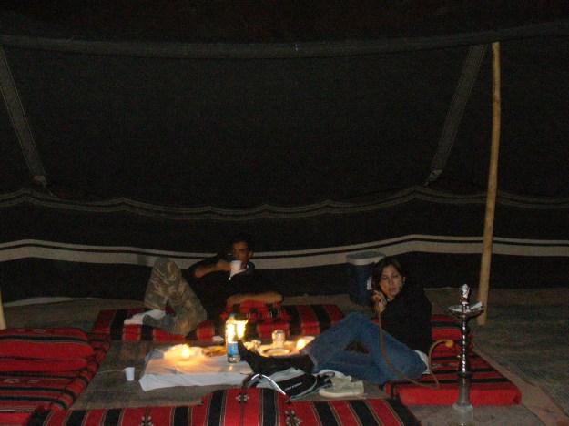 Dinner in the Wadi Rum.