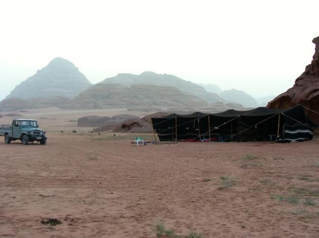 Wadi Rum campsite.