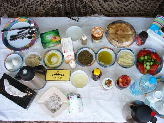Wadi Rum breakfast.