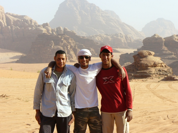 Wadi Rum tour guides.