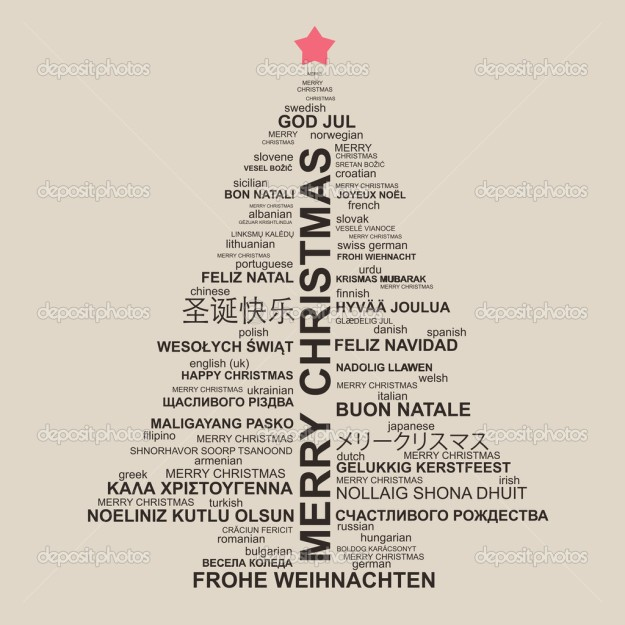 Merry Christmas in multiple languages