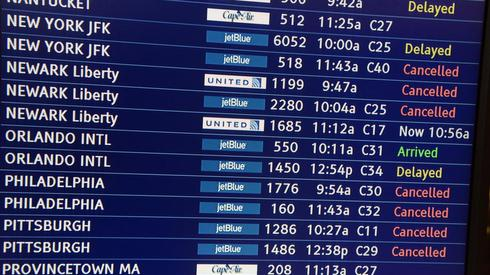 Polar Vortex, Boston, canceled flights, JetBlue