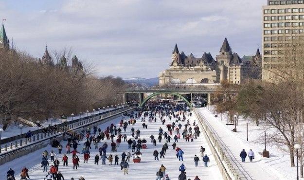 Rideau Canal Skateway in Ottawa.  (Photo credit: Ottawa Tourism)