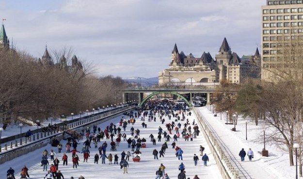 Rideau Canal Skateway in Ottawa.  (Photo credit: Ottawa Tourism)