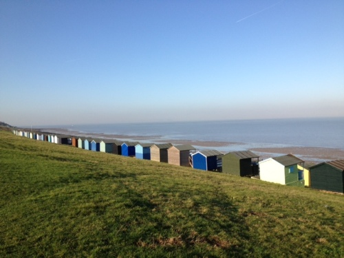 Whitstable's beach huts.