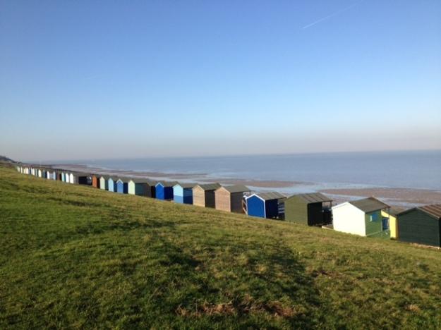 Whitstable's beach huts.