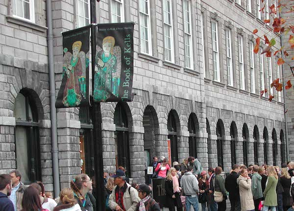 Dublin's Trinity College attracts locals and visitors.