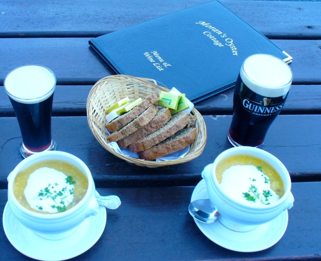 A yummy lunch at Morans on The Weir. (Photo credit: C. Santino)
