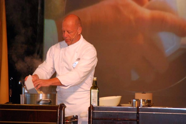 Guest chef demonstration.  (Photo credit: R. Bushong)