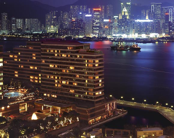 The InterContinental's night view.