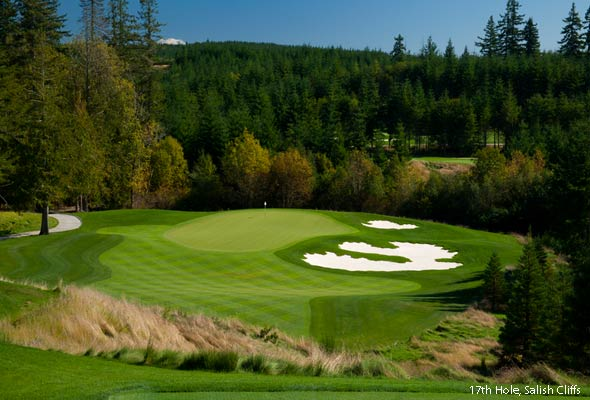 The 17th hole at Salish.