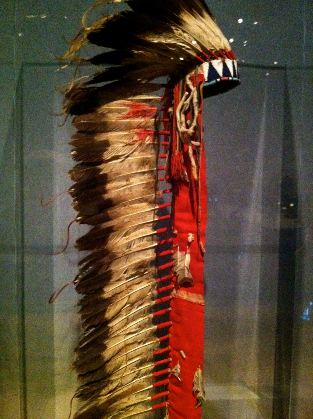 Oglala feather headdress worn by Chief Red Cloud. (Photo by author)