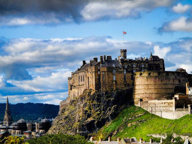 Edinburgh Castle, the jewel in the city's crown.