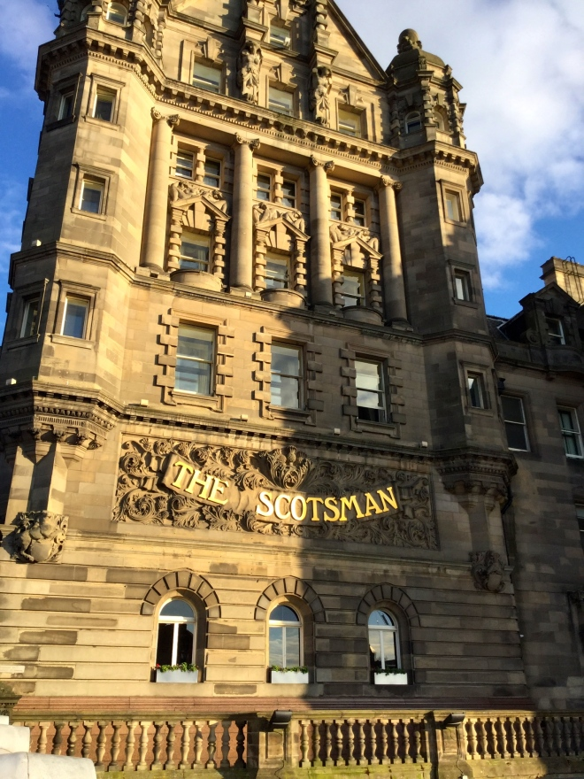 Solstice sun warms The Scotsman. (Photo by author)